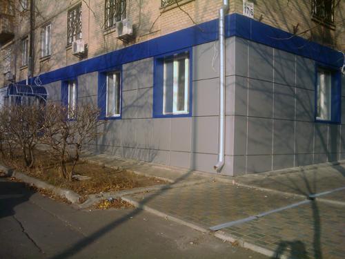 Облицовка алюминием, фасад банка