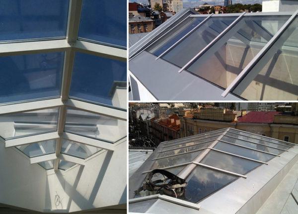 световых фонарь, зенитный фонарь, прозрачная крыша