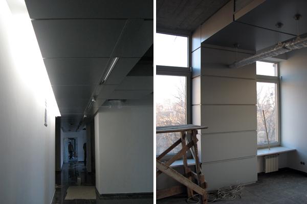 композитный лист, подвесной потолок, потолок из алюминия
