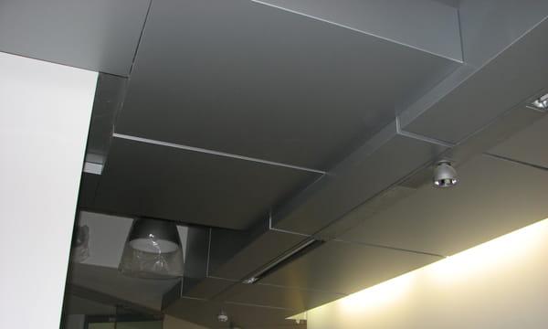 Облицовка колон, подвесные алюминиевые потолки