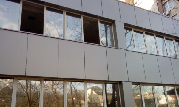 Вентилируемые фасады из алюминия