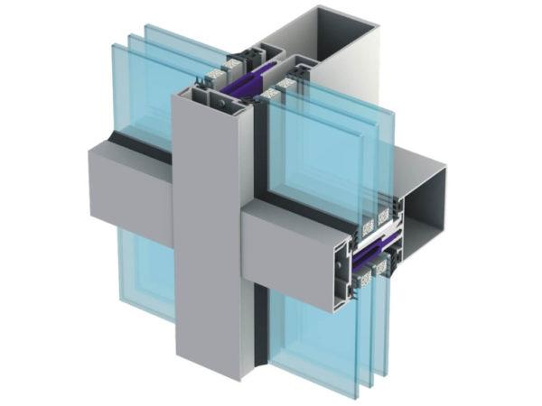 Остекление фасадов,Стоечно ригельное остекление, стеклянный фасад