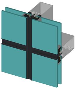 Структурное остекление фасада, стекляные стены