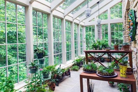 зимний сад в частном доме, изготовление зимнего сада