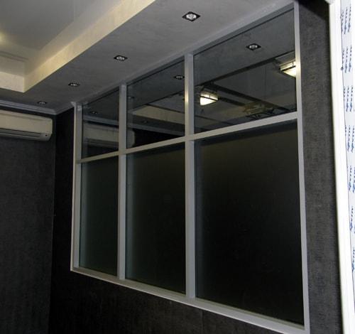 Офисные перегородки из стекла с алюминиевым профилем