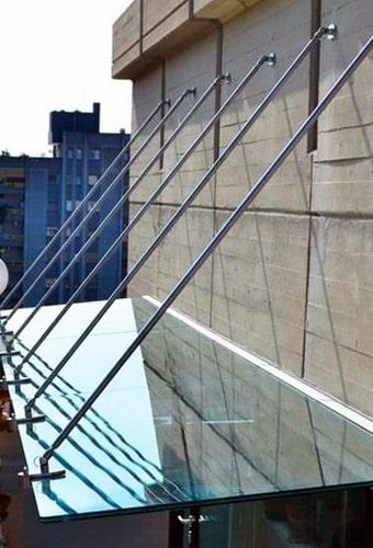 стеклянные навесы и козырьки Киев